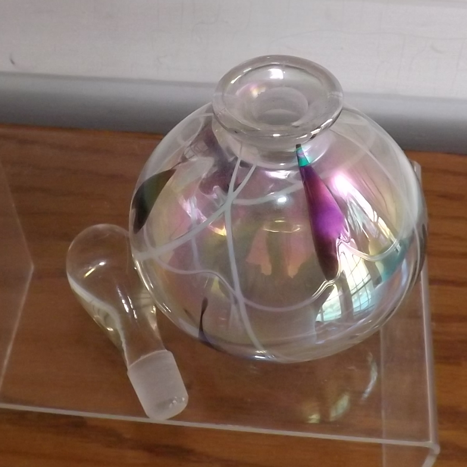 Glass Perfume or Cologne Bottle Clear Empty No Mark