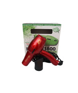 Parlux 1800 Eco Edition Red Hair Blow Dryer FOR EUROPE/UK USE ONLY - $69.99