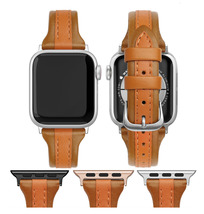 NEW Genuine Brown Leather Apple Watch band, 38mm 40mm 42mm 44mm For Women - $34.99