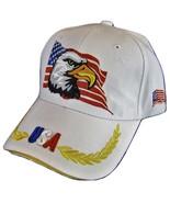 USA American Bald Eagle Flag on Side Patriotic Men's Adjustable Baseball... - $11.95