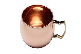 Rastogi Handicrafts Copper plain mug with Brass Handle - $13.86
