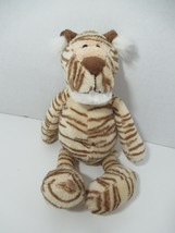"Best made toys plush Tiger cream beige tan brown stripes white chin 11-12"" - $24.74"