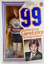 Mattel Wayne Gretzky Doll #99 Oilers Hockey The Great Gretzky Le Magnifique - $65.44