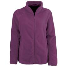 1X Women's Plus White Sierra Cozy Fleece Jacket Full Zip 16w/18w Dark Purple