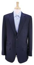 BHAMBI'S Bespoke Custom Tailor New York Solid Navy 2-Btn Wool Blazer Jac... - $94.50