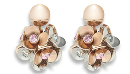 AUTH NEW FW 2016 DIOR MISE EN TRIBAL ROSE GOLD CRYSTAL FLOWER EARRINGS
