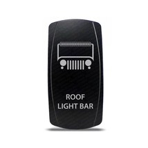 Rocker Switch Jeep Roof Light Bar Symbol - White LED - $16.44