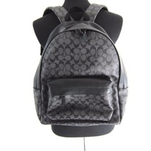 J-1514151 New Coach Charcoal Gray Black Zip Bag Backpack - $299.99