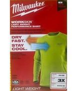 Milwaukee 411HV-3X WorkSkin Lightweight Work Shirt 3X USA - $23.76