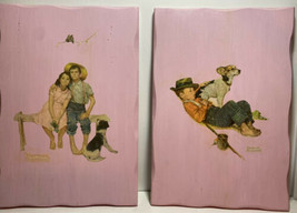 Normal Rockwell One of a Kind Handmade Wooden Prints Set of 2 1976 - $30.00