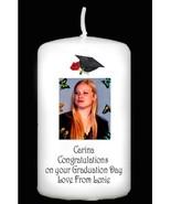 Personalised Graduation gift Keepsake Large Photo Candle by Cellini Cand... - $18.89