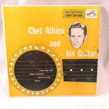 "Chet Atkins His Guitar 45 RPM 7"" Record Pagan Love Sunrise Beautiful Ohi... - $12.78"