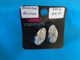 Paparazzi Clip-On Earrings (new) Revenue Avenue/White 9202 - $8.58
