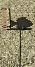Pan Fish Rain Guage - Rustic Metal Wildlife Cabin Lodge Garden Yard Decor - $38.00