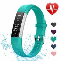 LETSCOM Fitness Tracker with Heart Rate Monitor, Slim and Smart (Green) - $48.56