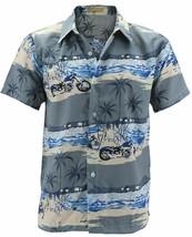 Men's Hawaiian Tropical Beach Party Button Up Casual Dress Shirt w/ Defect - XL image 2