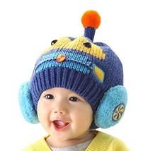 Newborn Baby Hats Lovely Winter Kids Hats Dark BLUE, 3-24 Months