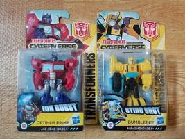 Scout Class Sting Shot Bumblebee + Optimus Prime Transformers Cyberverse... - $16.33