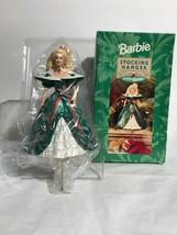New Hallmark Exclusive 1996 Holiday Barbie Christmas Stocking Hanger. Op... - $24.74