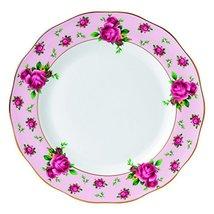 Royal Albert New Country Roses Vintage Formal Dinner Plate, White/Pink - $28.70