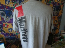 Vintage 90's Marlboro Cigarettes Back Print Pocket T Shirt XL  - $25.73