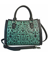 MONTANA WEST Delila,100% Genuine Distressed Leather Tooled Messenger Tot... - $168.99