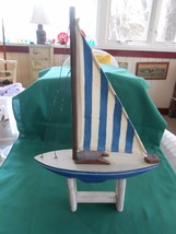 Great Collectible Wood SAILBOAT Model on Stand - $12.46