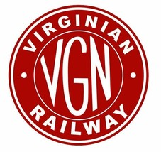 Virginian Railway Sticker R7104 Railroad Railway Train Sign YOU CHOOSE SIZE - $1.45+