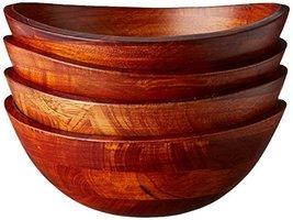 Lipper Small Cherry Wavy Rim Bowls, Set of 4 - $55.00