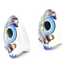 Ceramic Painted Owl Salt & Pepper Shaker Set Shakers Handmade in Guatemala image 2
