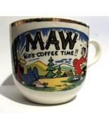 "Vintage ""MAW Hits Coffee Time"" Porcelain Coffee Cup or Mug Hillbilly Col... - $14.00"