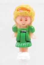 1991 Vintage Polly Pocket Doll Dream World - Polly (Green dress) Bluebir... - $7.50