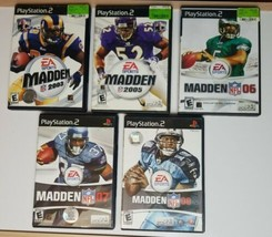 MADDEN PS2 5 Game Bundle SEE DESCRIPTION For Titles - $21.49