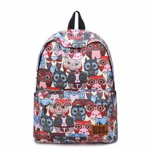 Japan style student owl printing leasure small size canvas bag - $21.00