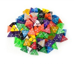Rpg Dice, Wiz 100 D4 Random Assorted Colors Polyhedral Lot Rpg Dice Pack - $35.99