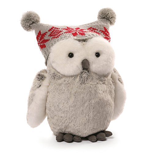 "GUND Christmas Twinkles Snow Owl Plush, 9""/Medium"