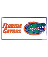 Florida Gators White Metal Car License Plate Auto Tag Sign - $6.95