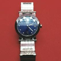 Collectible Rare Vintage Designer Blue MOVADO VIZIO Men Watch - $470.25