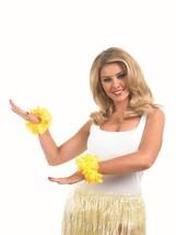 Amarillo Lei Muñequeras, Hawaiian / Luau Fiesta, Disfraz - £0.94 GBP