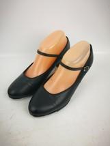 Capezio Black Leather Tele Tone Size  Tap Shoes Size 8 M Mary Jane Style - $15.99