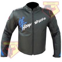 SUZUKI HAYABUSA SKY BLUE MOTORBIKE MOTORCYCLE COWHIDE LEATHER ARMOURED J... - $194.99