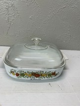 Vintage Corning Ware Spice of Life A-10--B 2 Qt Casserole Dish With Lid - $23.33