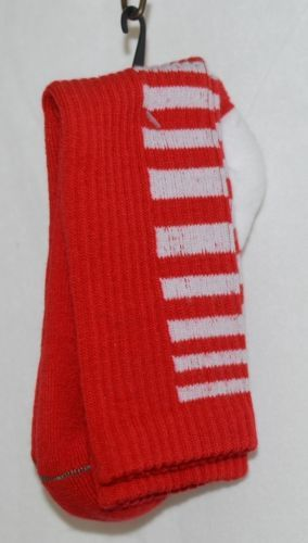 Unbranded Red white Kids Crew Socks Right Left Marked Bottom with R L