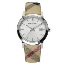 Burberry BU9025 Heritage Leather Swiss Made Womens Watch - $244.32 CAD