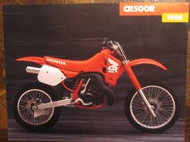 1988 HONDA CR500R NOS OEM DEALER'S SALES BROCHURE CR500 500R CR 500 R 88 - $47.99