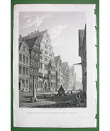 GERMANY Hanover House of Mathematician Leibnitz - CPT BATTY Antique Print - $22.95
