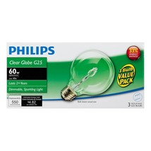 Phillips 433680 40 Watt Ecovantage G25 Decorative Bulb - $17.86+