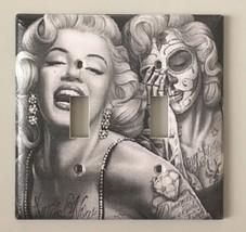 Day Of The Dead Marilyn Monroe Light Switch Cover decor Gift Sugar Skull... - $9.54