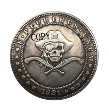 Hobo Nickel 1921-D USA Morgan Dollar Skulls COPPY COIN For Gift - $5.99