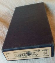 Vintage Office Collection. Hole Punch, Index Cards Typewriter Ribbon Tin. G-186 image 7
